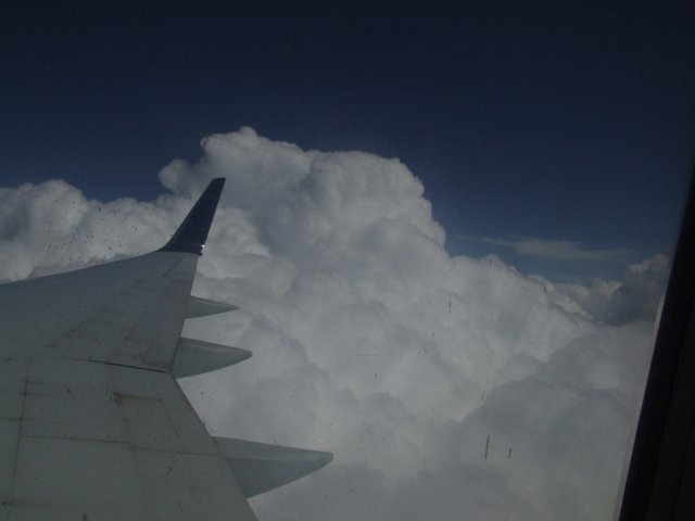 In the clouds...