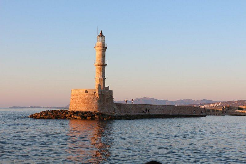 Lighthouse in Chania by Sunset
