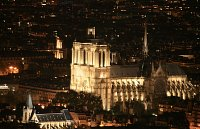 paris by night notre dame