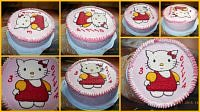 TORT - HELLO KITTY  KREMOWY....